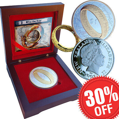 LOTR UNCIRCULATED COIN SET RARE NZ 2003 THE FELLOWSHIP OF THE RING 9x50 CENTS