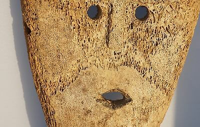 ALASKAN NATIVE Mask, Inuit Very Old Carving - Antique  (eskimo yupik? sculpture)