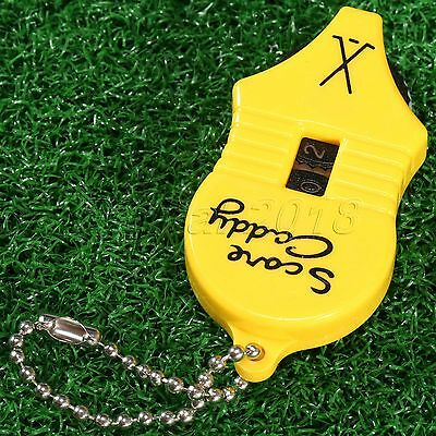 Plastic Golf Score Stroke Keeper Shot Counter Tool Tally Number Key Chain