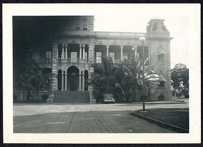C. 1937 Car Parked outside Capitol Building in Honolulu Hawaii