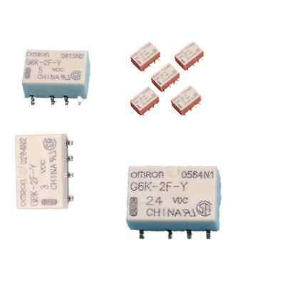 5PCS DC 3V 5V 12V 24V SMD G6K-2F-Y-3VDC Signal Relay 8PIN for Omron Relay New