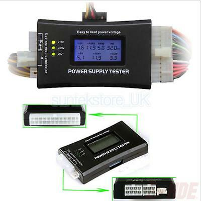 LCD Computer Engine Case Power Supply Tester 20/24 pin 4 SATA HDD Testers
