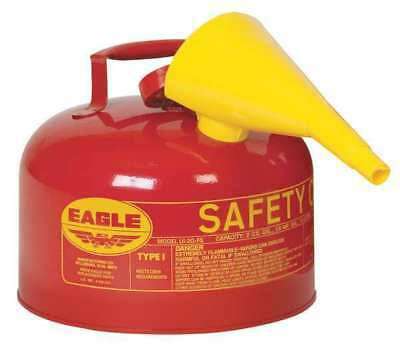 2-1/2 gal. Red Metal Type I Safety Can, For Flammables EAGLE UI-25FS