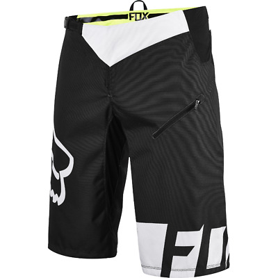 Fox Flexair DH Bike Shorts Black/White 2017