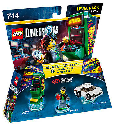 LEGO Dimensions Level Pack Midway Arcade Retro Gamer 71235 LEGO