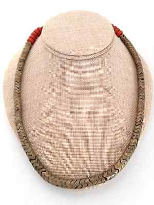 Unique Brass Link Necklace Ethnic Banjara Handmade Gujarat India Jewelry 21.5""