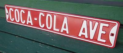 Coca-Cola Coke Ave Avenue Logo Embossed Street Advertising Sign Man Cave Garage