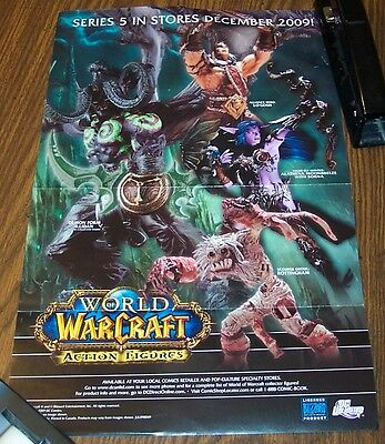 WORLD of WARCRAFT Figures Promo Poster  11x17 DC