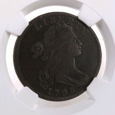 1798 Draped Bust 1C Rev 95 1st Hair S-155 NGC XF Details US Copper Large Cent