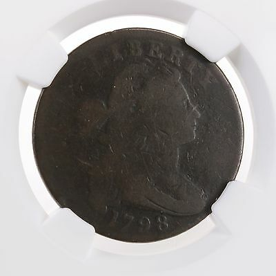 1798 Draped Bust 1C S-161 1st Hair NGC G 4 BN Early US Copper Large Cent Coin