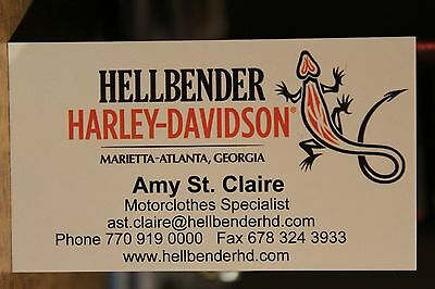 Hellbender Atlanta Georgia Motorcycles Business Card Harley Davidson