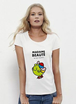 T-shirt Femme Blanc Madame Beaut_ taille S [S] - m y d e s i g n  NEUF