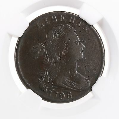 1798 Draped Bust 1C S-184 2nd Hair NGC VF 25 BN Early US Copper Large Cent Coin