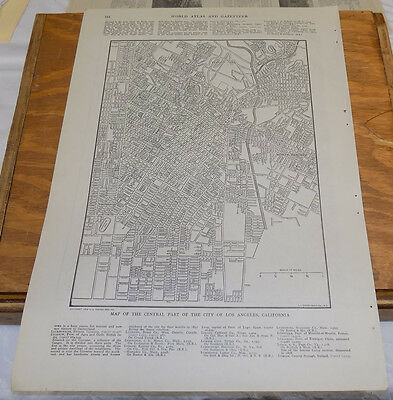 1912 Collier's City Map//LOS ANGELES, CA, and LONDON, ENGLAND (EASTERN HALF)