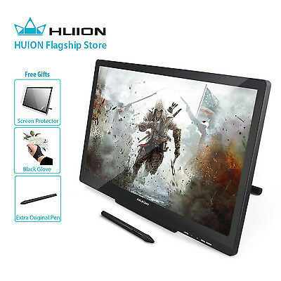 Huion GT-220 v2 Black Pen Display 21.5 Inch IPS Tablet Monitor for Mac and PC
