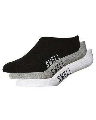 New Swell Boys 3 Pack Of Invisible Socks Size 2-8 Toddler Children Boys