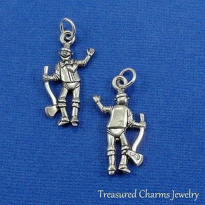Look Tin Man Wizard Of Oz Gold Plated Over Reals Sterling Silver Charm Pendant Jewellery & Watches