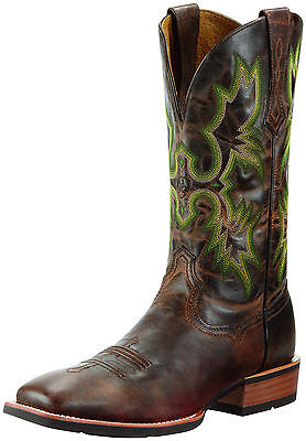 ARIAT - Men's Tombstone Wide Square Toe - Weathered Chestnut - (10010285) - New