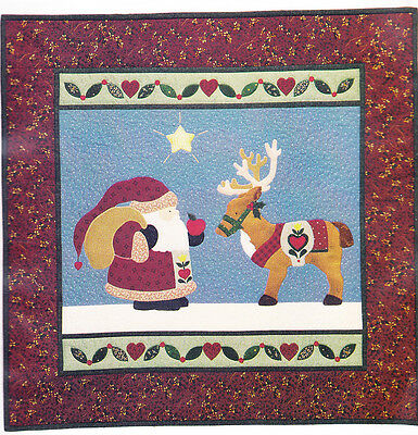 SALE - From Santa With Love - applique & pieced Christmas wall quilt PATTERN