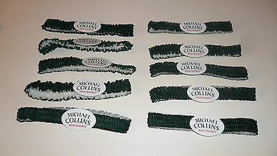 10 MICHAEL COLLINS IRISH WHISKEY GARTER BELTS  Green w/ White Wedding Favors Fun