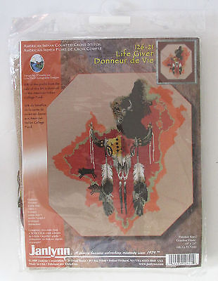 """Counted Cross Stitch American Indian Life Giver 19"""" x 21"""" NIP Kit"""