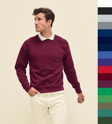 3er Pack FRUIT OF THE LOOM Herren Pullover, Raglan Sweatshirt dick 62-216-0 NEW