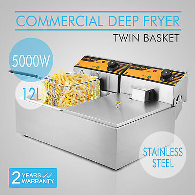 12L Electric Deep Fryer Restaurant Frying Home Applications 5000W Tabletop