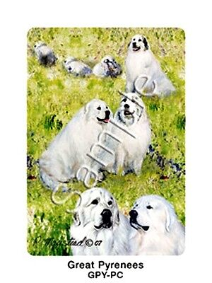 GREAT PYRENEES  - Deck of Playing Cards by Maystead