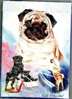 PUG dog Deck of Playing Cards by Maystead