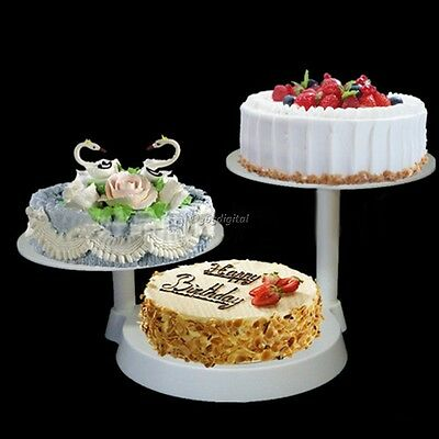 Stylish 3 Tier White Cake Rack Display Cake Stand For Home Party Wedding