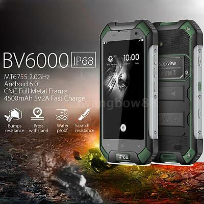 "Blackview BV6000 4G LTE 4.7"" Smartphone 3GB+32GB Android 6.0 13MP NFC Verde X0Q1"