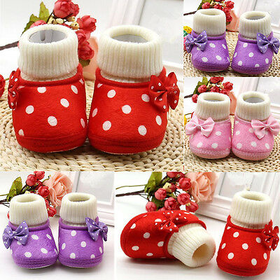 1 Pair Cute Girl Newborn Warm Toddler Hot Soft Sole Boots Baby Shoes Infant Pop