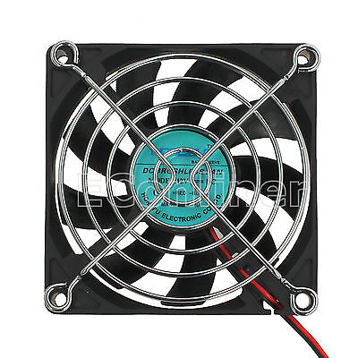 12V 2 pin Computer PC Highspeed Cooling Fan 80mmx80mmx15mm Black Brushless Case