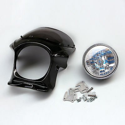 Black Upper Fairing Cowl+Headlight Kit For Yamaha XJR400 XJR1300 ZRX400 New