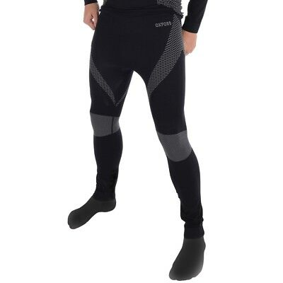 Oxford Layers Base Layer Knitted Long Sleeved Thermal Motorcycle Pants - Black
