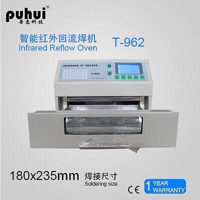 T-962 IC Heater Infrared Reflow Wave Oven 180m with 2 extra pipes for free T962