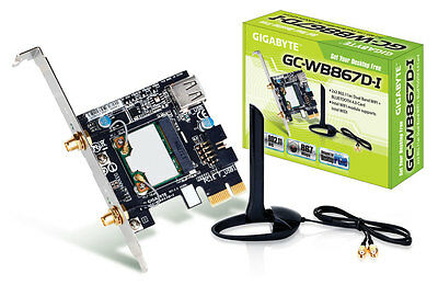 Gigabyte GC-WB867D-I Rev 2.0 PCIe WiFi and Bluetooth Internal PC Network Card