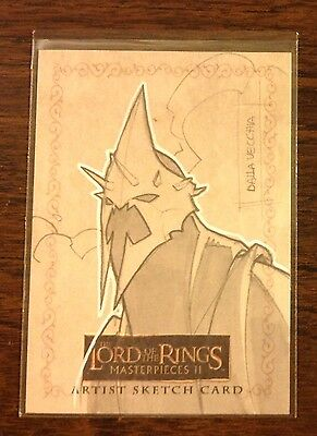 Topps Lord of the Rings Masterpieces 2 sketch card 1/1 LOTR