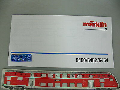 AO595-0,5# Märklin 1 gauge Instruction Maxi 5450/5452/5454 for steam locomotive