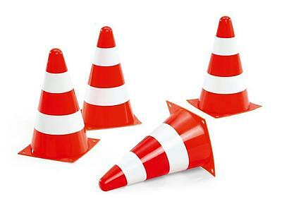 New Rolly Toys Ride on Pedal Tractor Car Kids Traffic Cones Plastic Pylon 4-Pack