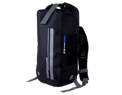 Overboard Classic 20L Black Waterproof Backpack Rucksack Motorcycle Biker