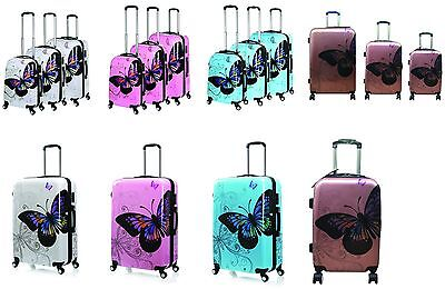 Hard Shell 4 Wheel Spinner Suitcase PC Luggage Trolley Case Cabin 4Colour 3Size