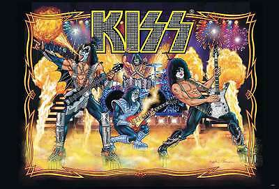 KISS POSTER 24x36 INCH MUSIC ROCK HEAVY METAL CONCERT NEW SIDE SHEET WALL PM168