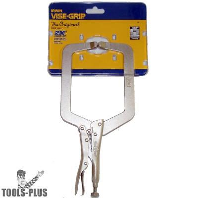 "9"" Locking C-Clamp with Regular Tips Irwin Vise Grip 9DR New"