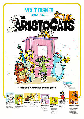 The Aristocats (1970) - A1/A2 POSTER **BUY ANY 2 AND GET 1 FREE OFFER**