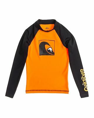 NEW QUIKSILVER™  Boys 2-7 Main Peak Long Sleeve Rash Vest Boys Children