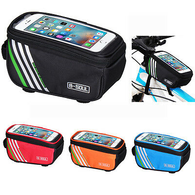 Sports Bicycle Cycling Bike Frame Front Tube Waterproof Mobile Phone Bag Holder