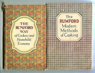 Lot Of 2 Rumford Cooking Booklets Vintage VGEX 100516jhe