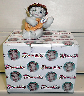 """New Dreamsicles """"Band Of Angels - Guitar"""" #11195 Cherub/Angel with Guitar NOS"""