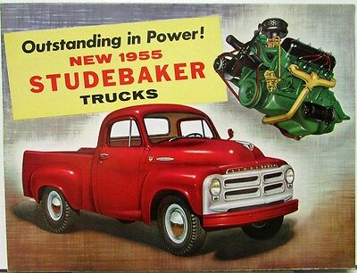 1955 Studebaker 1/2 To 2 Ton Trucks E Series Color Sales Folder Original